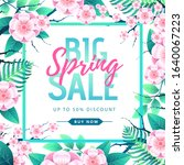 spring big sale poster with...   Shutterstock .eps vector #1640067223