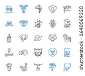 wildlife icons set. collection... | Shutterstock .eps vector #1640069320