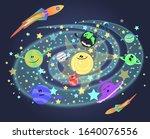Solar System For Kids. Vector...