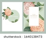 wedding invitation card with...   Shutterstock .eps vector #1640138473