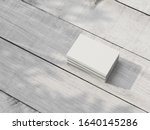 stack of white business cards...   Shutterstock . vector #1640145286