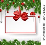 holiday background with fir... | Shutterstock .eps vector #164015219