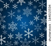 background with snowflake... | Shutterstock .eps vector #164015534
