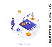 buyer with shopping cart  book  ... | Shutterstock .eps vector #1640174110