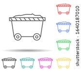 cart multi color style icon....