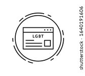 website  lgbt icon. simple line ...
