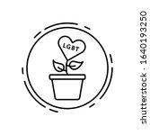 plant  flowerpot  lgbt icon....