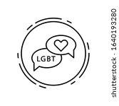 conversation  lgbt icon. simple ...