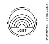 rainbow  lgbt icon. simple line ...