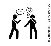 men  idea  speaking icon....