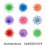 coronavirus cells colorful set... | Shutterstock .eps vector #1640201419