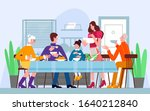 family dinner  traditional meal ... | Shutterstock .eps vector #1640212840