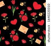vector seaamles valentine's day ... | Shutterstock .eps vector #1640220310