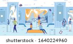 curious people surprised at...   Shutterstock .eps vector #1640224960