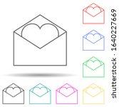 envelope with love letter multi ...