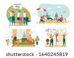 friends recreation flat vector... | Shutterstock .eps vector #1640245819