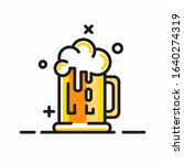 beer mug with foam icon.... | Shutterstock .eps vector #1640274319