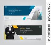 vector abstract banner design... | Shutterstock .eps vector #1640287570