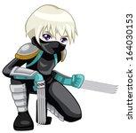 warrior kid   Shutterstock . vector #164030153