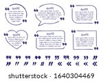 set of doodle quote text boxes... | Shutterstock .eps vector #1640304469