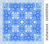 antique azulejo tiles patchwork....   Shutterstock .eps vector #1640305426
