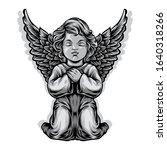 baby angel statue vector... | Shutterstock .eps vector #1640318266