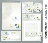 corporate identity template... | Shutterstock .eps vector #164032448