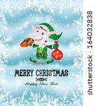 vector illustration. christmas... | Shutterstock .eps vector #164032838