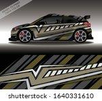 car wrap decal design vector ... | Shutterstock .eps vector #1640331610