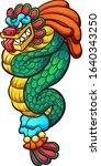 quetzalcoatl feathered serpent... | Shutterstock .eps vector #1640343250