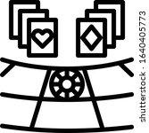 baccarat   gambling icon set....