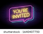 you are invited sign in glowing ... | Shutterstock .eps vector #1640407750