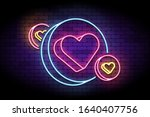 neon sign with hearts in... | Shutterstock .eps vector #1640407756