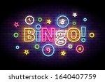 Bingo Neon Sign With Lottery...