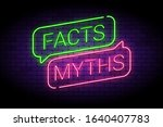 facts and myths sign in glowing ... | Shutterstock .eps vector #1640407783