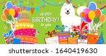 happy birthday banner.... | Shutterstock . vector #1640419630
