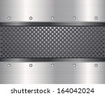 pattern of metal texture... | Shutterstock .eps vector #164042024