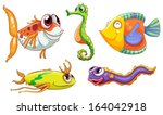 animal,aqua,aquatic,background,blue,cartoon,colorful,creature,deep,drawing,eel,fish,fishes,five,gift