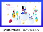 Music Party   Modern Isometric...