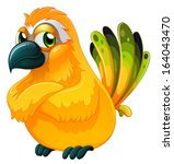 illustration of an angry bird... | Shutterstock .eps vector #164043470