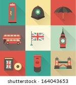 london vintage icons vectors
