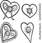 hearts decorative black white... | Shutterstock .eps vector #1640455630