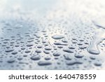 Drops Of Pure Water On A Smooth ...