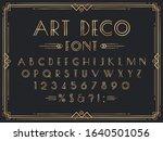 golden art deco font. luxury...   Shutterstock .eps vector #1640501056