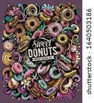 donuts hand drawn vector... | Shutterstock .eps vector #1640503186