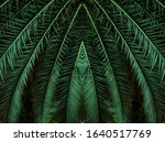 Tropical Palm Leaves In...