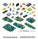 electrical boards isometric.... | Shutterstock .eps vector #1640520100
