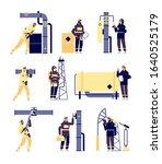 oil industry. petroleum... | Shutterstock .eps vector #1640525179