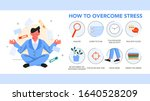 how to overcome stress guide.... | Shutterstock .eps vector #1640528209