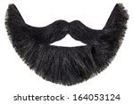 black beard with curly mustache ... | Shutterstock . vector #164053124
